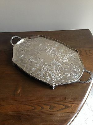 Sheffield Silver Plated Serving Tray