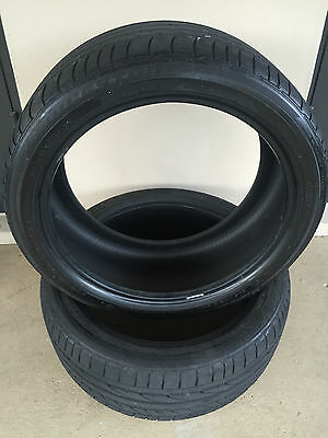 2 Used Run Flat BF Goodrich Potenza 245/40 R19