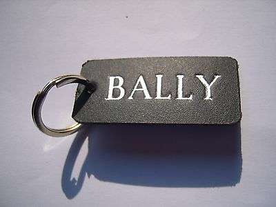 Bally Leather Keyring Fob. For Fruit Machine Or Pinball Machine.