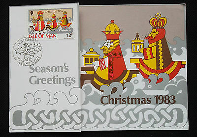Stamps, 1983 Isle Of Man Post Office Christmas Card.