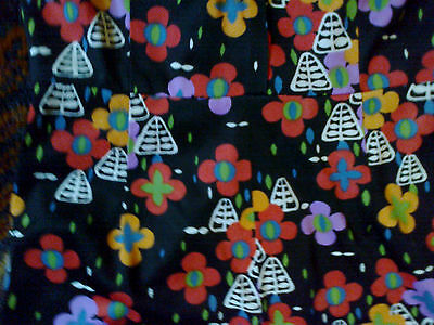 Original 1970 Rare Flower Power Hot Pants Playsuit St Micheal Black Twiggy Party