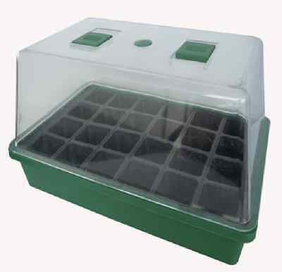 Saxon MINI GREEN HOUSE W/ SEED TRAY Includes Air Vent for Temp Control, Compact