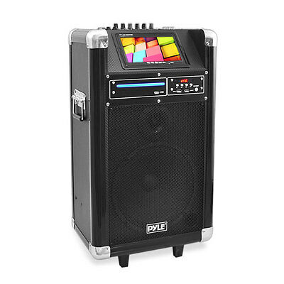"Pyle PKRK10 Karaoke PA System 7"" Screen  DVD Player 400 Watt"