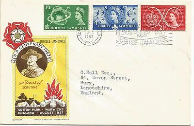First Day Cover World Scout Jubilee Jamboree 1 August 1957