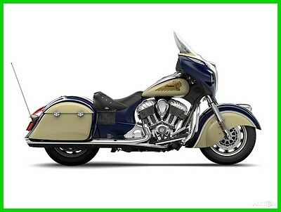 Indian Chieftain® Springfield BlueIvory Cream 2015 Indian Chieftain Springfield Blue - Ivory Cream New - No Reserve