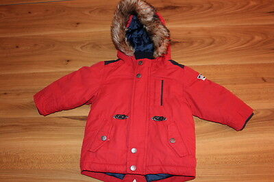 NEXT boys red winter coat 9-12 months *I'll combine postage