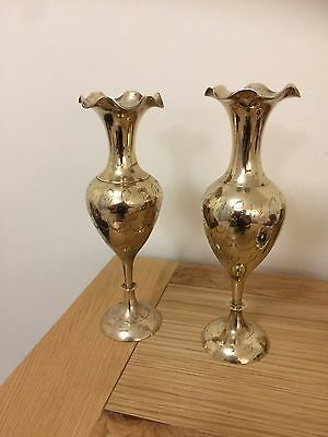 Pair of brass candle stick holders