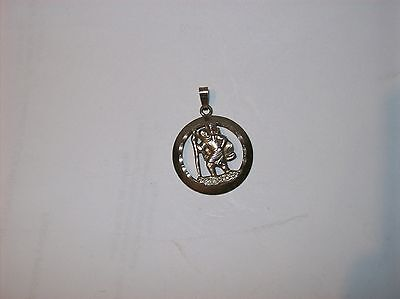 Superb Solid Silver St Christopher  23Mm  Wide