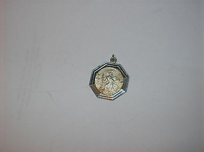 Superb Solid Silver St Christopher  22Mm  Wide