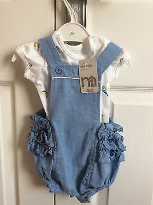 Mothercare baby girl romper suit with vest - newborn