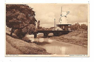 Nice Printed Postcard Of The Old Windmill Rye Sussex