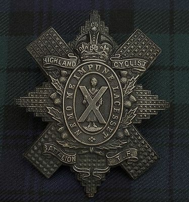 A Blackened Version Highland Cyclists Battalion. Terratorial Force.1860-1909.