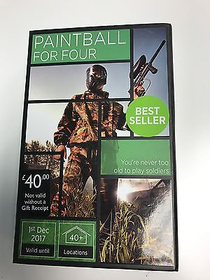 Paintball for Four Gift Experience Activity Superstore