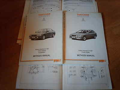 THATCHAM BODY REPAIR METHODS MANUAL Subaru Impreza Saloon and Estate 2.0 1997