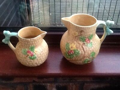 2 SHORTER & SON Floral jugs