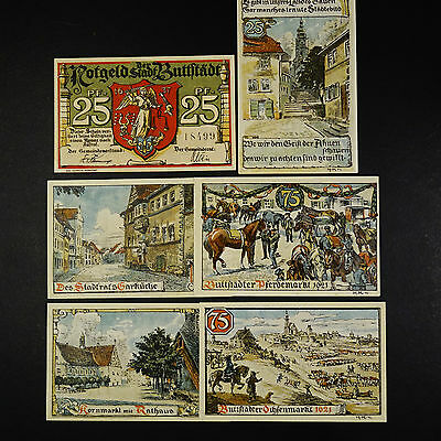 6 x Top Notgeld Buttstädt , german emergency money unc 6 Scheine komplett