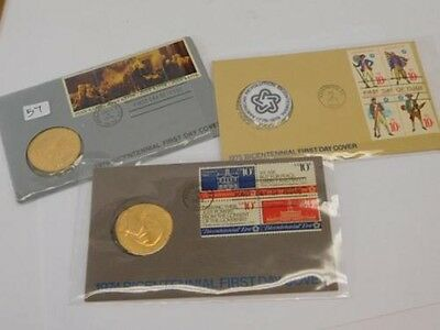 1974, 1975, 1976 Bicentennial Us Mint First Day Cover W/medals & All Packaging!!