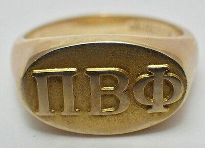 Pi Beta Phi Sorority 10K Yellow Gold Balfour Ring Size 3 1/2 4.8 Grams