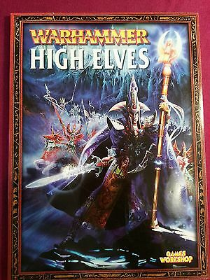 Warhammer Armies, High Elves, by Jake Thornton ect, 2002 Supplement Book
