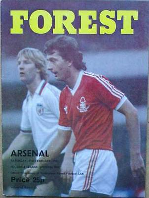 Nottingham Forest v Arsenal 1980/81