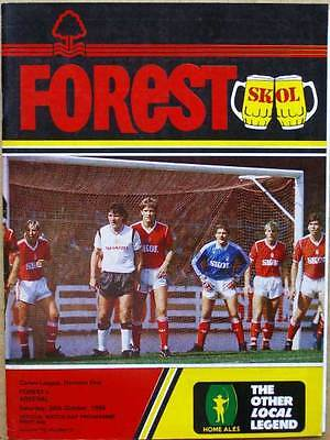 Nottingham Forest v Arsenal 1985/86