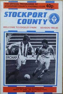Stockport County v Mansfield Town 1982/83