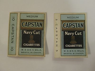 Vintage Capstan empty cigarette packet sleeves