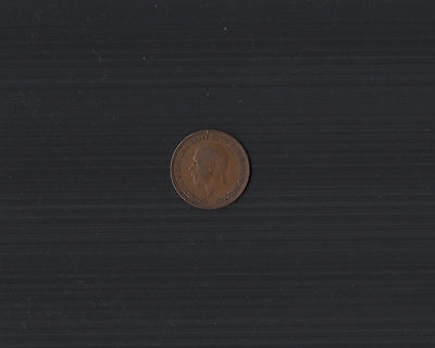 1936 King George V Halfpenny Coin