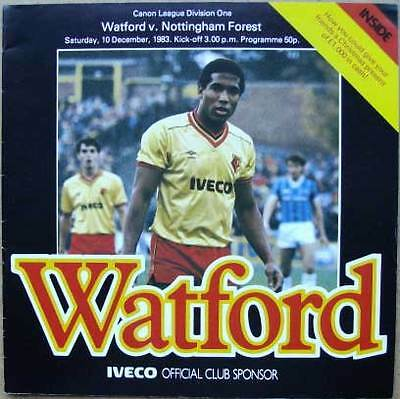 Watford v Nottingham Forest 1983/84