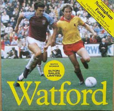 Watford v Nottingham Forest Football League Cup 1980/81