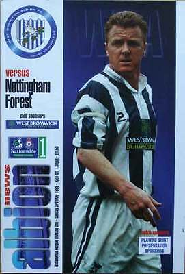 West Bromwich Albion v Nottingham Forest 1997/98