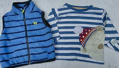 Baby Boys clothing fall winter outfit set size 3-6 months Vest & Shirt CARTERS