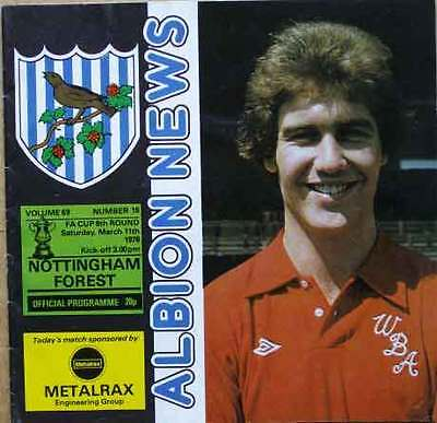 West Bromwich Albion v Nottingham Forest FA Cup 1977/78