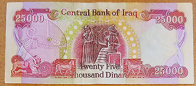 25,000 New Iraqi Dinar Note/Currency