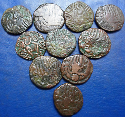 10 CHOLA COINS LOT WEIGHT - 41.5gm