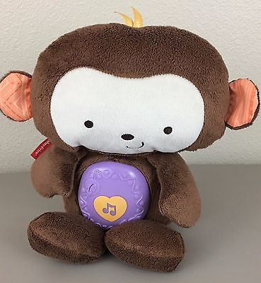 Fisher Price Plush Monkey Musical Light Sleep Soother Nature Sounds