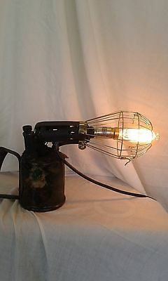 Steampunk Vintage Retro Industrial Blow Lamp Xmas  Lamp Light Man Cave Office
