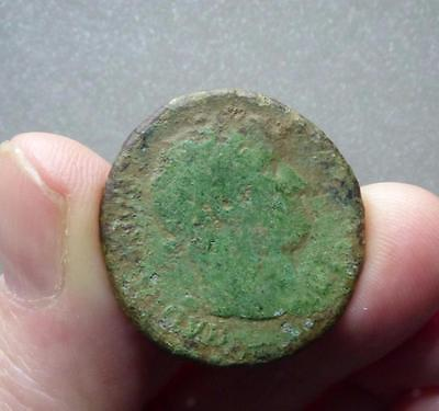 beautiful bronze coin (As) european roman ca. 300-100 AD