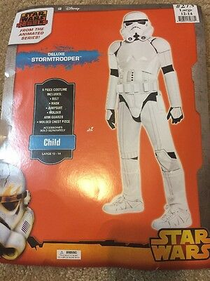 Disney Deluxe STORMTROOPER Costume Star Wars Child Large 12 14