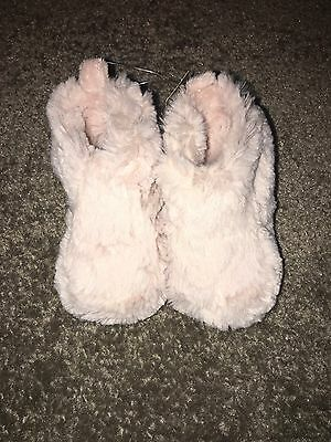 BNWT Baby Girl Next Fur Soft Sole Boots Size 3-6 Months