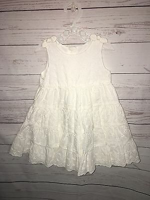 Baby Girl Mothercare White Summer Dress Size 6-9 Months