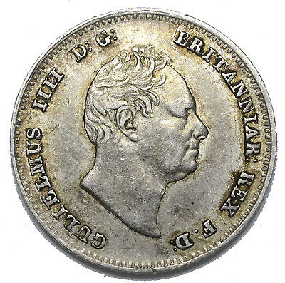 1836 Groat (Fourpence) - William Iv British Silver Coin - Nice