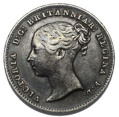 1838 Groat (Fourpence) - Victoria British Silver Coin - Nice