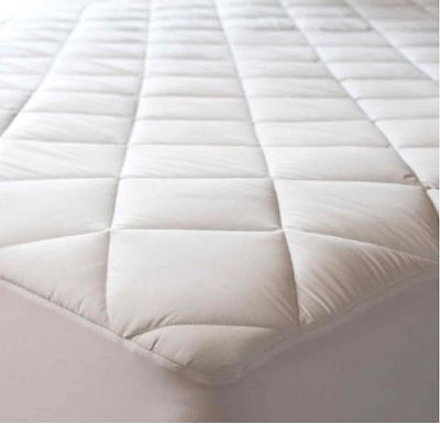 """New Luxury 30cm 12"""" Deep Quilted Mattress Protector Cover Topper sizes available"""