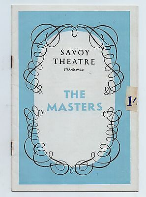 1962 production of THE MASTERS at the Savoy Theatre