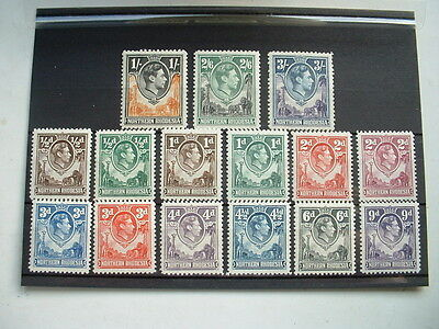George V1 Northern Rhodesia Definitive Stamps Mint