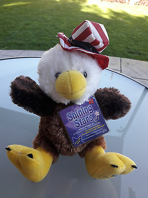 Shining Stars Patriotic 4th of July American Eagle NEW! Stuffed Plush WITH TAGS