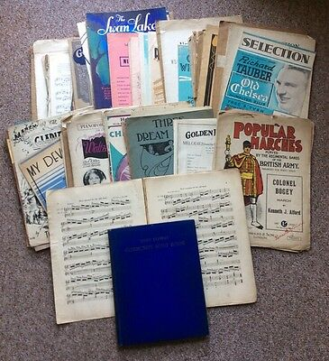 Large Vintage Collection of Sheet Music & Music Books