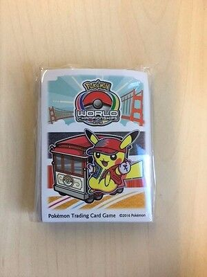Pokemon Hüllen / Sleeves  World Championships 2016 Pikachu San Francisco