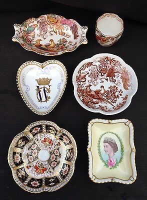 Royal Crown Derby - 6 x Trinket Items Various Shapes - Imari 2451 - Avesbury Etc